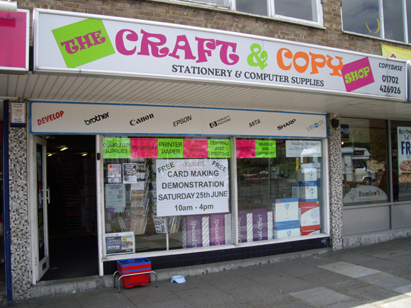 the craft copy shop in hadleigh essex stationery in hadleigh. Black Bedroom Furniture Sets. Home Design Ideas