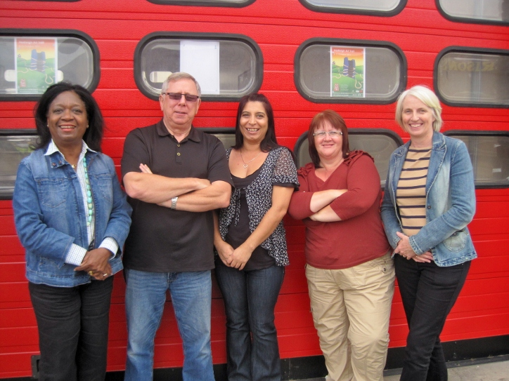 Hadleigh Old Fire Station; Donna Jeffrey, Stan Edwards, Lorna Stennett, Alison Ansary and Sue Willis